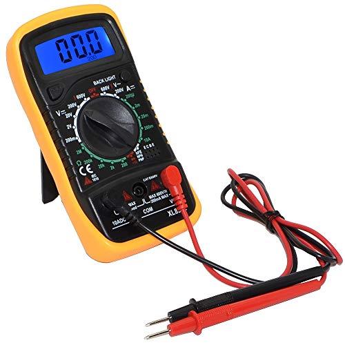 デジタルマルチメーター AC/DC両用 電流/電圧/抵抗テスター 電圧チェッカー コンパクトサイズ バックライト付 大型デジタル表示 電池式 過負荷保護機能 小型軽量 FMTXL830L