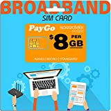 SpeedTalk Mobile Pay As You Go Data only SIM Card 4G LTE No Contract Service - USA Nationwide Domestic and International Roaming