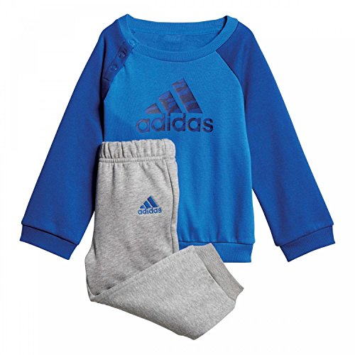 adidas Baby Logo Jogger Fleece Trainingsanzug, Blue/Collegiate Royal/Dark Blue, 80