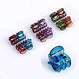 Rmeet Pinzas para Cabello Mini,24 Pack Pequeñas Garra de Pelo Clip de Agarre de Plástico...