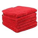 Chemical Guys MIC 997 6 Fluffer Miracle Supra Microfiber Towel, Red