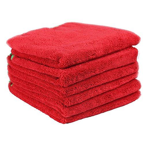Chemical Guys MIC_997_6 Fluffer Miracle Supra Microfiber Towel, Red, 24' x 16', Pack of 6