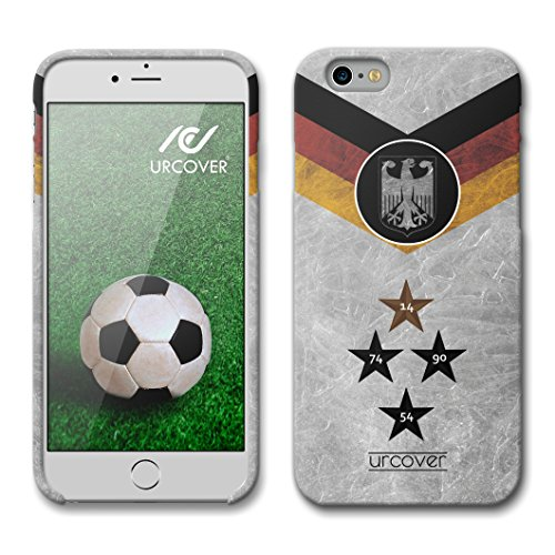Urcover Funda iPhone 6 / 6s Copa del Mundo 2018 Football, Carcasa Trasera Camiseta de Futbol [Team Alemania] Protector Mundial de Fútbol Cover Apple iPhone 6 / 6s Case TPU Flexible