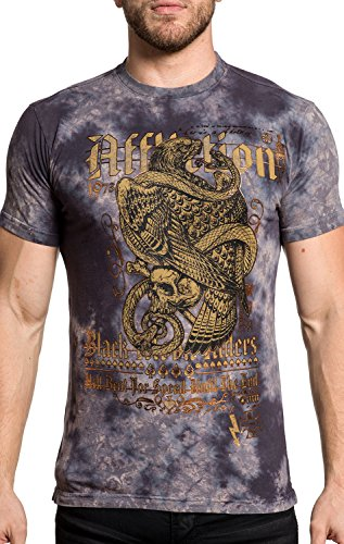 Affliction T-Shirt The End Grau, XXXL