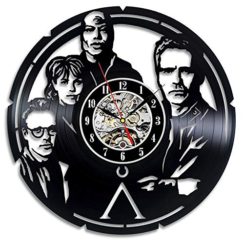 mebeaty Vinylaufzeichnung Uhr Stargate Muster Schwarz Armbanduhr Familie Wanduhr Geeignet Für Wohnzimmer Schlafzimmer Badezimmer Korridor Treppen Wand Flur Dekorative