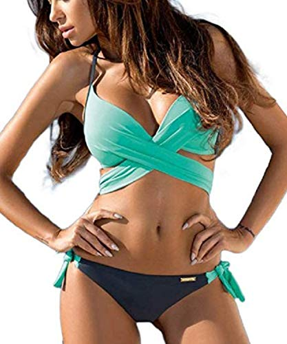 JFAN Traje De Baño Mujer Sexy Bañador de Baño Conjunto de Bikini Push up Sujetador Acolchado Traje de baño Bikini para Mujeres