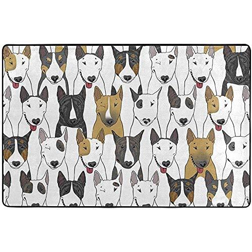 If Not Felpudo Perros Divertidos Alfombra Bull Terrier Alfombrillas Interiores para Exteriores Alfombra de área Grande