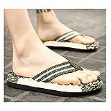 Zapatillas de baño Summer moda masculinos zapatillas de goma de masaje del pie clip grande tamaño de playa transpirable sandalias y zapatillas bizcocho resistentes al desgaste cómodas sandalias de pis