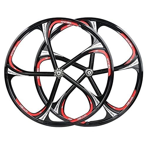 Cerchio bici 26 pollici Wheelset Magnesium Ley Mozzo ruota monopezzo 5 Coltello Cuscinetto RIM RUOTA DI MONTAGNA 8 9 10 11 Speed Release rapido Accessorio per bicicletta per assi a sgancio rapid