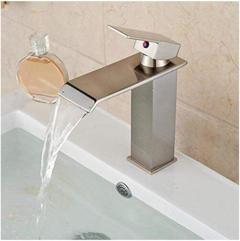 Retro Mixer Faucet Copper Bathroom Washbasin Nickel Nickel Wire Light Single Hole Water Tap
