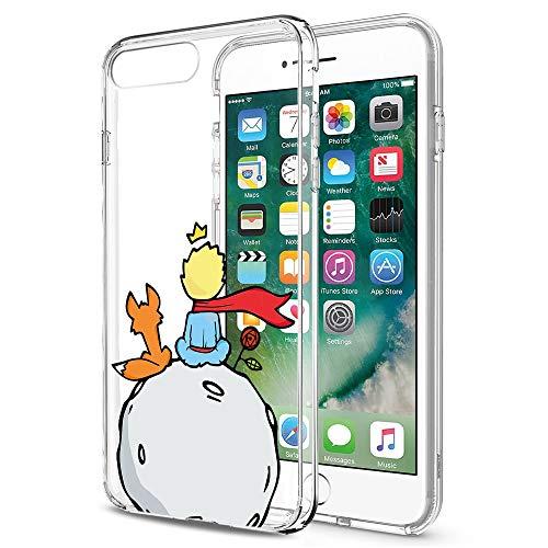 YOEDGE Funda iPhone 8, Ultra Slim Cárcasa Silicona Transparente con Dibujos Animados Diseño Patrón [El Principito] Resistente Case Cover para Apple iPhone 7/8 / 9 / SE (2020) (4,7 Pulgadas) (Zorro)