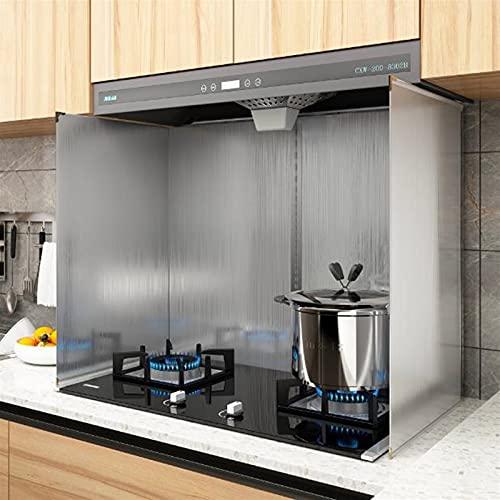 Kays Stänkskydd för matlagning 4-sidigt stänkskydd för spishäll och stekpanna vikbar oljespännare skärmskydd värmeisolering köksredskap (storlek: 45 x 60 x 80 cm)