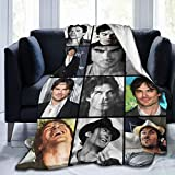 LOVE YOU Ian Somerhalder Fleece Blanket Ultra-Soft Micro for Couch Or Bed Warm Living Room Vampire Diaries Throw Blanket (60' x50) Medium for Teens