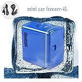 Car Freezer4L - Nevera portátil con energía solar para frigorífico o congelador, color azul mini 12 V para exteriores