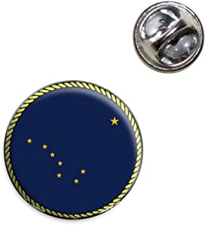 Alaska State Flag Lapel Hat Tie Pin Tack