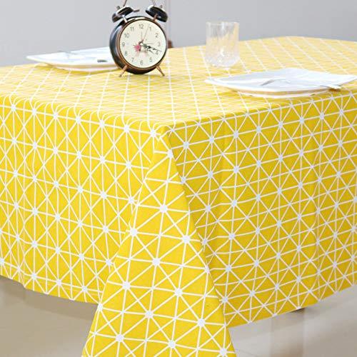 YXDZ Nappe en Tissu Coton Et Lin Nappe Géométrique Rectangulaire Art Plaid Nappe De Couverture De Table Basse Serviette Nordique Jaune 140 * 220Cm