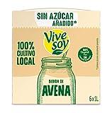Vivesoy Bebida de Avena sin azúcar - Pack de 6 x 1000 ml - Total: 6000 ml