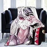 Tokyo Ghoul Anime Juuzou Suzuya Pattern Blankets Super Soft Warm Faux Fur Throw Blanket -Ultra-Soft Micro Fleece Blanket Twin, Warm, Lightweight, Pet-Friendly, Throw For Home Bed, Sofa & Dorm