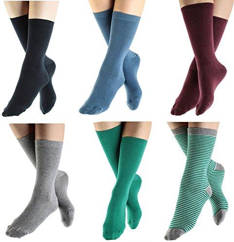 ALBERO 2 Paare Damen Herren Socken Bio-Baumwolle GOTS Damensocken Herrensocken Freizeitsocken (35-38, bordeaux)