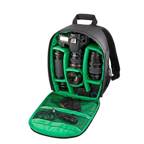 Camera zaino impermeabile Zaino di nylon a tracolla 33 * 12.5 * 26.5 multi funzione anti-shock per DSLR Canon Nikon Sony Olympus EOS Samsung reflex Pentax Accessori Fujifilm Viaggiare Fotografia Nero Verde DC1