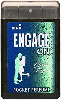 Engage Men's Citrus Fresh Pocket Perfume, 18ml (Pack of 2)