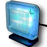 DeliaWinterfel Simulador TV con configuración Flexible, 8 Diferentes Modos de Tiempo, Pantalla Digital, Seguridad para la casa, Sensor de luz Ambiental y tempori by