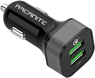 ARCANITE USB Ladegerät, USB Anschluss, Dual Port Quick Charge 3.0, 36W, 6A