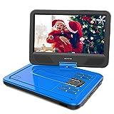 WONNIE 2019 Upgrade Lecteur DVD Portable 12,5'avec écran Rotatif à 270 °, Voiture avec Carte SD et Prise USB Format de Charge directe/RMVB/AVI / MP3 / JPEG, Parfait pour Les Enfants (Bleu)