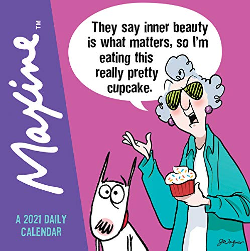 TF PUBLISHING 2021 Celebrating 35 years of Maxine Daily Desktop Boxed Calendar with Easel - John Wagner Art - Home or Office Planning- 55x55