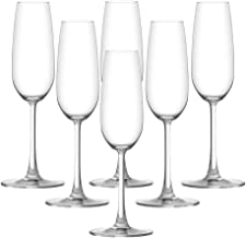 Ocean Madison Flute Champagne Glass, Pack of 6, Clear, 210 ml, 015F07