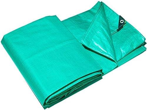 HU Toile Imperméable Toile Sunscreen Tissu épais Tissu Retardant Haute Température Rain Cover Tissu Bache Vert (Taille   4 x 8 m)