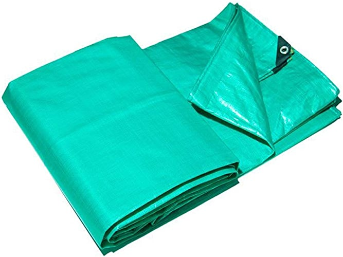 HongTeng Toile Imperméable Toile Sunscreen Tissu épais Tissu Retardant Haute Température Rain Cover Tissu Bache Vert (Taille   4 x 3 m)