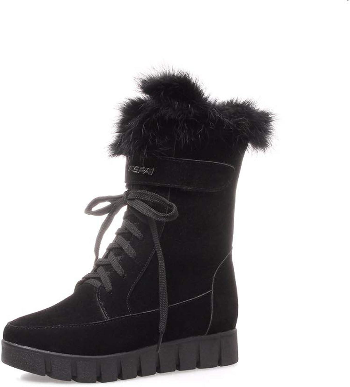 Woherrar Wedges Snow Boot Boot Boot s Lace Up Plattform varma tillfälliga skor kvinna Long Plush mode Winterboot  incitament främjande