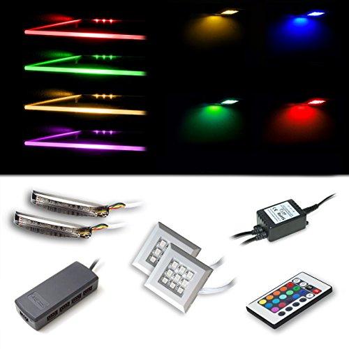 Vladon Conjunto de iluminación LED RVA con 2 Clips de Borde de...