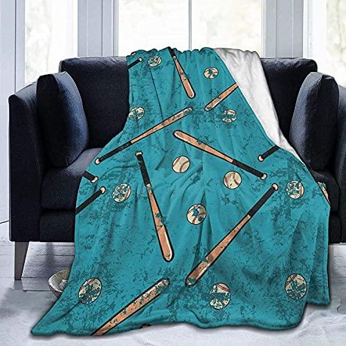 Manta de franela con patrón de béisbol para bebés, niños, hombres, mujeres, mantas suaves y cálidas, tamaño Queen y mantas para sofá, cama, sofá de viaje