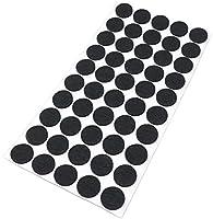 Adsamm® | 50 x Feltrini | Ø 20 mm | nero | tondi | Piedini mobili in feltro autoadesivo di 3.5 mm di spessore di alta qualità