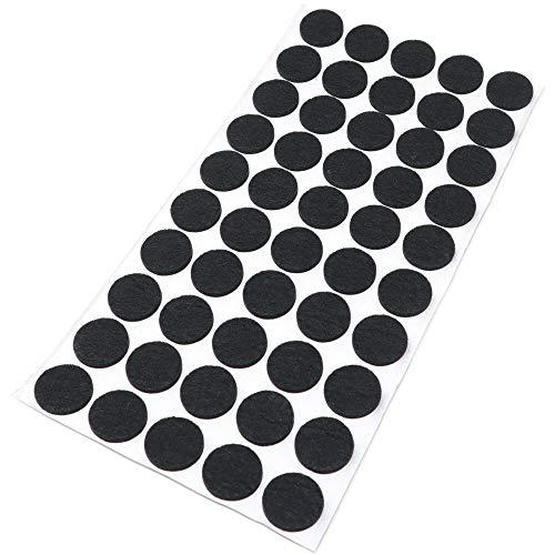 Adsamm® | 50 x Filzgleiter | Ø 20 mm | Schwarz | rund | 3.5 mm starke selbstklebende Filz-Möbelgleiter in Top-Qualität