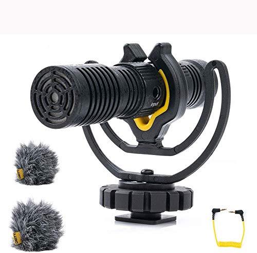 Deity V-Mic D4 Duo Mic Dual Cardioide Pickup Fucile Microfono per Intervista Vlog Pocket Cam DSLR Fotocamera Built-in Stereo Splitter