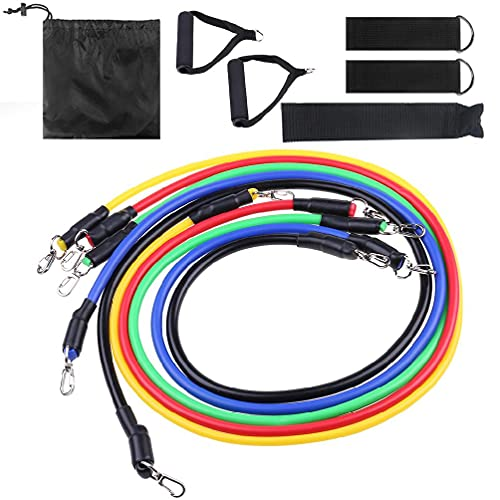 11 Set Latex Resistance Bands Training Exercise Yoga Tubes Pull Rope Expander air purifier filter replacement air purifier filter replacement holmes air purifier filter replacement germ guardian air b