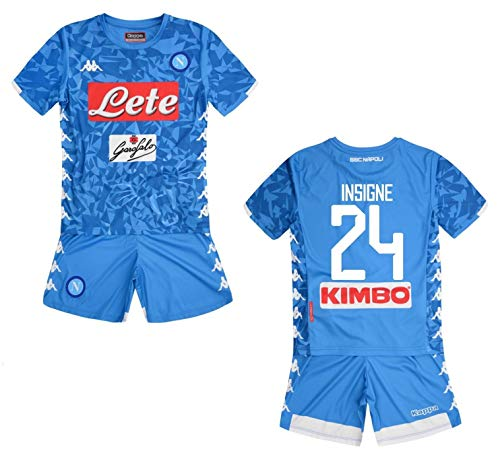 Kappa Italia SSC Napoli Kinder-Kombi Insigne 2018-19 (YXL 12 Jahre 152 cm)