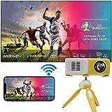 TINFF Mini Proiettore Portatile Full HD 1080P Nativo Supporta 4K 340 Video Proiettore Per Smartphone Home Theater per TV, iOS, Android, PPT, PS4,5(giallo 360a)