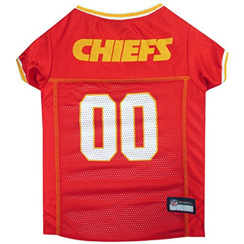 NFL KANSAS CITY CHIEFS DOG Jersey, Medium Shirt Apparel Jersey for DOGS or CATS & Small Pets