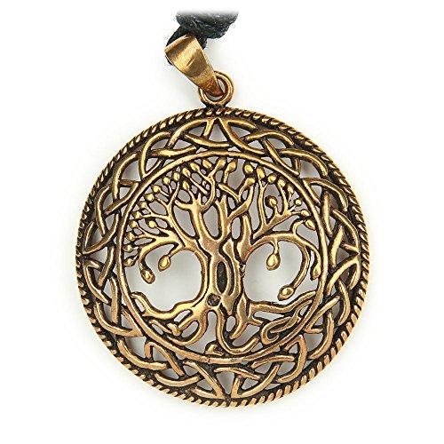 Drachensilber Lebensbaum Bronze Schmuck keltischer Anhänger Wikinger Baum des Lebens