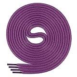 Di Ficchiano Schnürsenkel, Rundsenkel für Business- und Lederschuhe, reißfester Allroundsenkel, ø 3mm Farbe violett Länge 80cm
