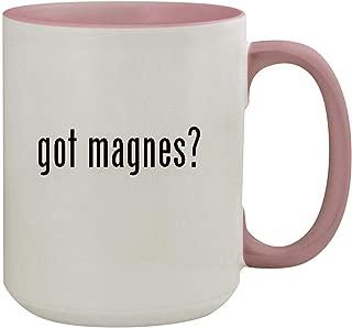 got magnes? - 15oz Colored Inner & Handle Ceramic Coffee Mug, Pink