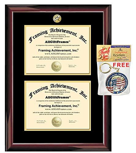 23 x 24 Name /& Tassel Graduation Diploma Frame Sculpted Foil Seal Gold Accent Gloss Mahogany Signature Announcements Eastern-Virginia-Medical-School Undergraduate