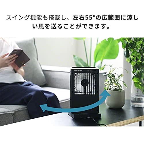 Qurra(クルラ)冷風扇ヒヤミスト2冷風機卓上ミスト静音5枚羽タイマースイング風量調整上部給水USB扇風機ミニクーラー持ち運び3RSYSTEMSホワイト