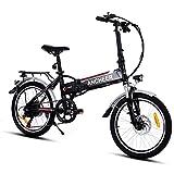 cooshional Bicicletta elettrica Bici Pieghevole Mountain Bike velocità di 250W / 7...
