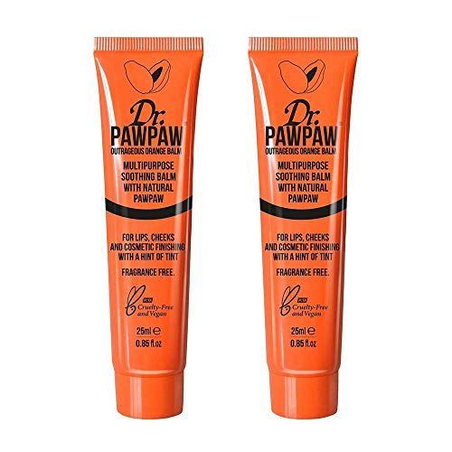 Dr. PAWPAW Outrageous Orange Balm for Lips and Skin, 2 x 25ml