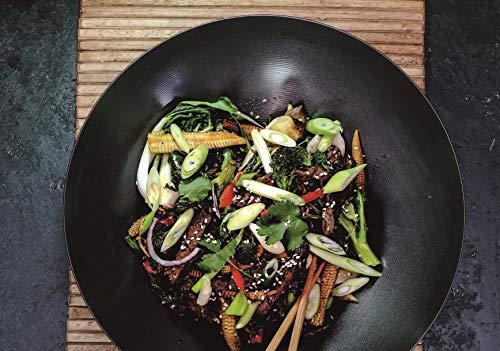 WORLD OF FLAVOURS Oriental Wok, Acero, Gris, 30 cm